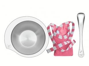 Kit Infantil Le Petit para Refeição Rosa em Aço Inox 3 Peças Tramontina