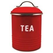 Lata Galvanizada Week Porta Chá Vermelha Yoi