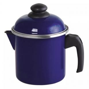 Leiteira Aço Esmaltado 16 1,8 litros Azul Ewel