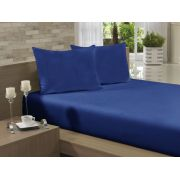 Lençol Avulso Casal 190x240 Azul Marinho Soft