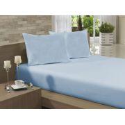 Lençol Avulso Casal Especial 210x260 Azul Claro Soft