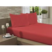 Lençol Avulso Casal Especial 210x260 Vermelho Soft