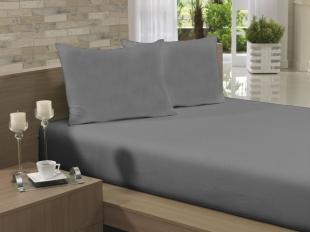 Lençol Avulso Kingsize Extra 280x290 Cinza Soft