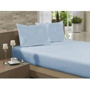 Lençol Avulso Queen Especial 100% Algodão 235x275 Azul Claro Soft