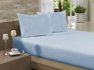Lençol Avulso Solteiro 135x240 Azul Claro Soft