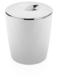Lixeira Cromo Vitra 5 Litros Branca LX 550 OU