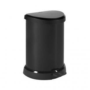 Lixeira Deco 20L Textura Metálica Curver Preta Keter