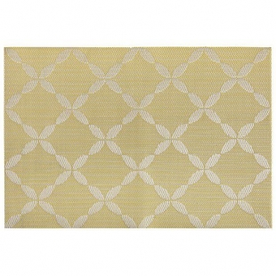 Lugar Americano Today Home Design 45,00cm X 30,00cm Amarelo Fatex