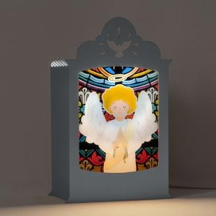 Luminária Anjo da Guarda - Cinza Carambola