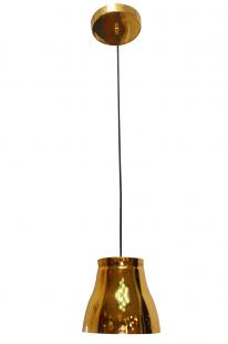 Luminária Bombe Dourada Cabo Preto Taiwer
