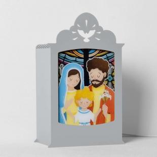 Luminária Sagrada Família - Cinza Carambola