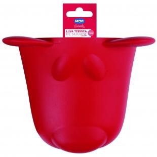 Luva Térmica Silicone Vermelha Pet MOR