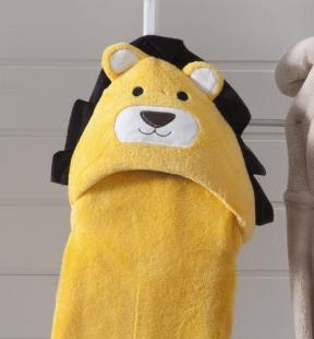 Manta Baby com Capuz de Leao 075x100cm Amarelo Jolitex