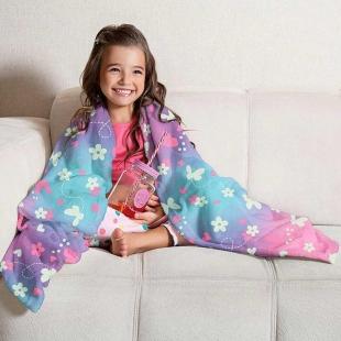Manta Fleece Dupla Face Solteiro Kids Glow 1,25x1,50 cm Lepper