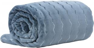 Manta Queen 220x240 Lummy Living Art Chevron Azul Agata Corttex