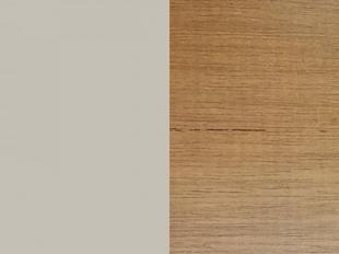 Mesa Centro Maior Linnea Amendoa/Off White Brilho/Cobre Rudnick