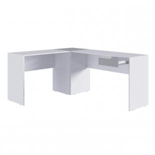 Mesa em L Branca/Cinza M.com