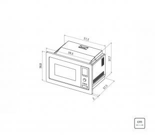 Micro-ondas de Embutir Glass 60 Preto 6 Funções 25L 220v Tramontina