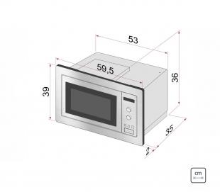 Micro-ondas de Embutir Inox 60 25L Inox Scotch Brite 8 Funções 220v Tramontina