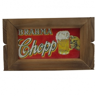 Mini Engradado Decorativo Madeira Brahma Vintage Concept