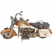 Miniatura Motorcycle Laranja 3 Farois Oldway Metal Goods