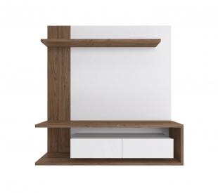 Painel Para Tv Est203 1,60 2 Portas Branco/Madeirado Estilare Móveis