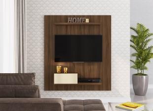 Painel Para Tv Pa01 1,20 1 Porta Off White/Madeirado Estilare Móveis