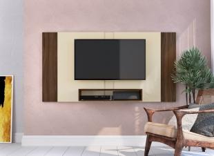 Painel Para Tv Pa02 1,74 Off White/Madeirado Estilare Móveis