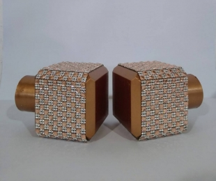 Par Ponteira para Cortina Cubo Infinity 28mm Rose Gold Bella Arte