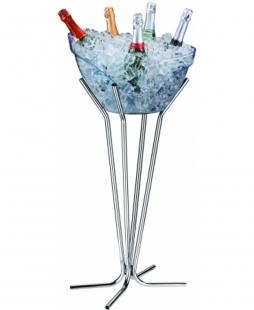 Pedestal para Champanheira Tubular Cromado Boccati