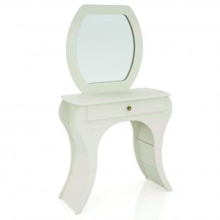 Penteadeira Retro 1 Gaveta Off White/Espelho TW131 Dalla Costa
