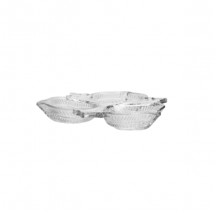 Petisqueira C/3 Divisórias de Cristal de Chumbo Vintage Lyor