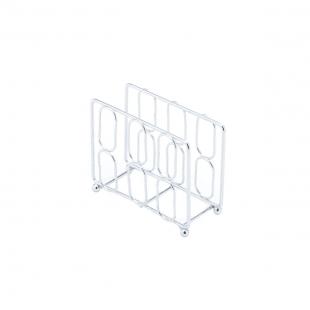 Porta Guardanapo de Ferro Cromado Lyor