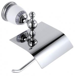 Porta Papel Higiênico Branco/Cromado Bracci