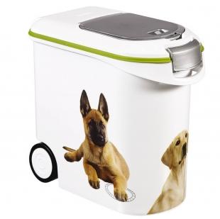 Porta Ração Hermético 12kg Dispenser Estampa Pet Keter