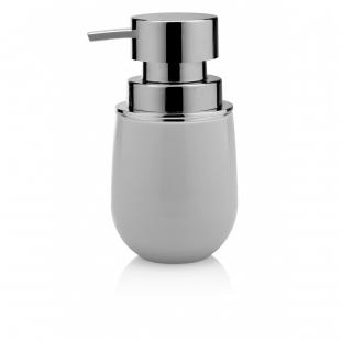 Porta Sabonete Líquido New Belly Cromo Branco PSB725 OU