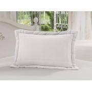 Porta Travesseiro 50 x 70cm 100% Algodão Branco Soft
