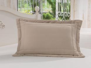 Porta Travesseiro 50 x 70cm 100% Algodão Caqui Soft