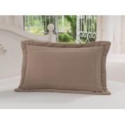 Porta Travesseiro 50 x 70cm 100% Algodão Chocolate Soft