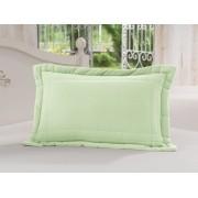 Porta Travesseiro 50 x 70cm 100% Algodão Verdinho Soft