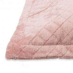 Porta Travesseiro Plush Inove Liso  55 x 80 cm Rosa Argila Hedrons