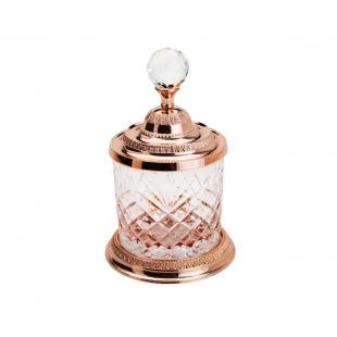 Pote Rose Multiuso 16,5cm Cristal De Zamac Lyor