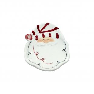 Prato Barba Noel Natal Ceramica Toulouse Niazitex