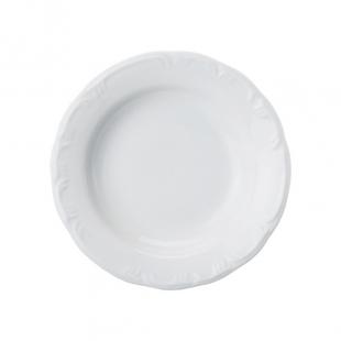 Prato Fundo 23cm Linha Pomerode Branco Porcelana Schmidt