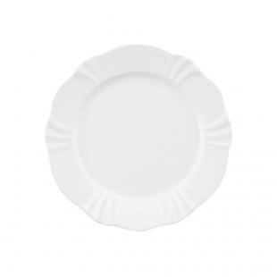 Prato Sobremesa 23cm Soleil White Oxford