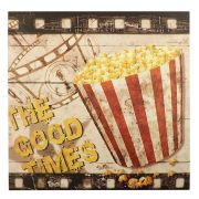 Quadro Decorativo 40x40cm Movies Pop Corn Goods