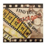 Quadro Decorativo 40x40cm Movies Stage Door Goods