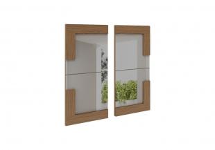 Quadro Espelho San Marino Lateral Natural Impresso Rudnick