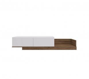 Rack Br104 1,60 2 Portas Branco/Madeirado Estilare Móveis