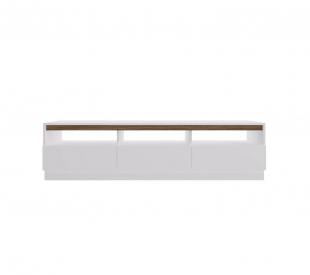 Rack Br106 1,60 3 Portas Branco/Madeirado Estilare Móveis